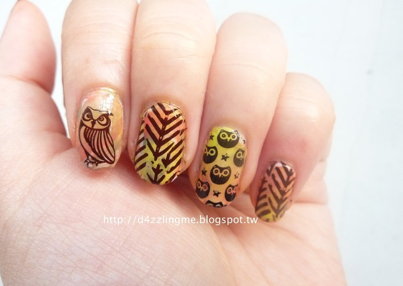 Fall Nails  nail art by D4zzling Me
