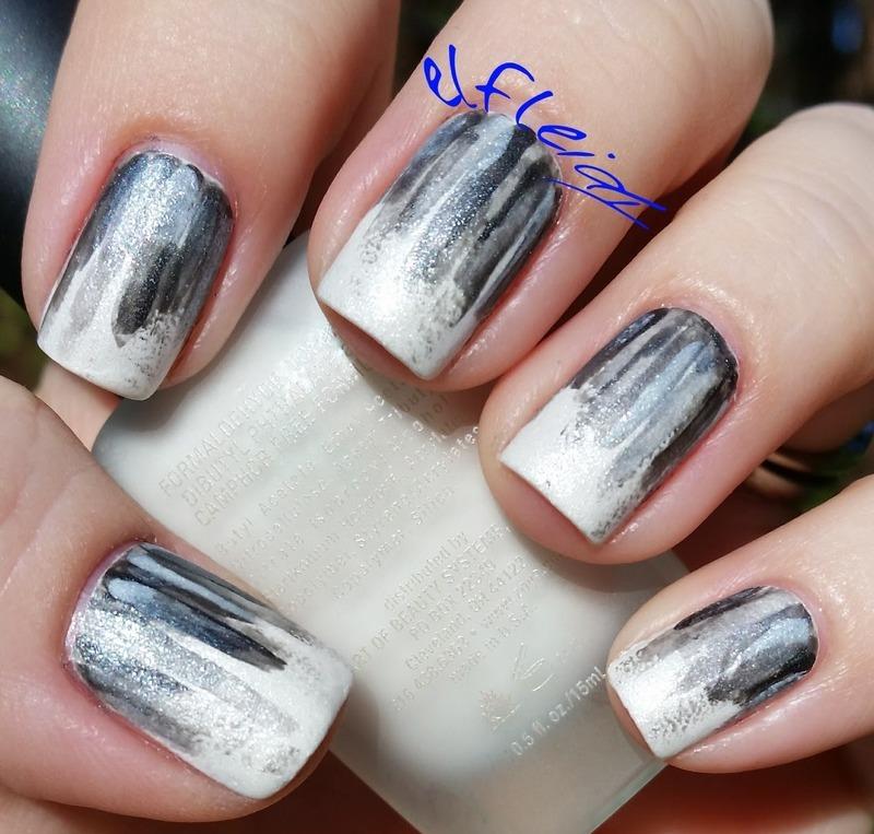 40 Great Nail Art Ideas- black and white nail art by Jenette Maitland-Tomblin