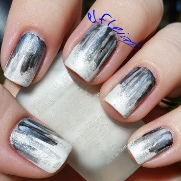 40 Great Nail Art Ideas- black and white nail art by Jenette Maitland-Tomblin