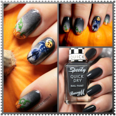 Scarecrow nail art by Elodie Mayer