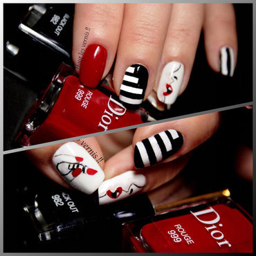 Sephora nail art by Elodie Mayer