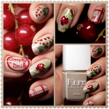 Currant nail art by Elodie Mayer