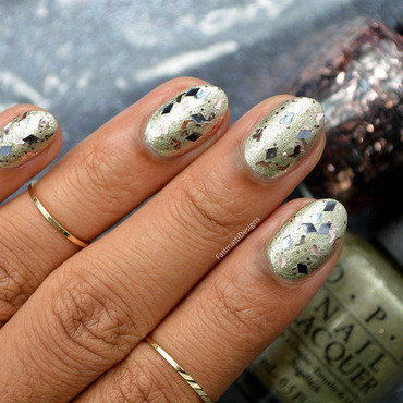 OPI Two Wrongs Don't Make A Meteorite Swatch by Fatimah