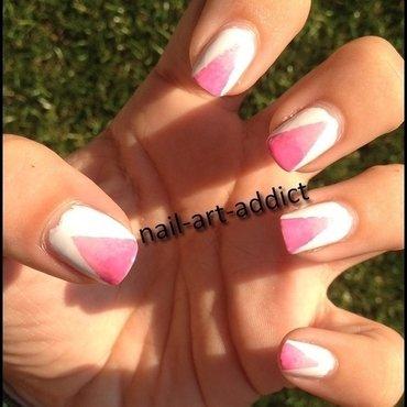 Nail Art : Dégradé Triangulaire nail art by SowNails