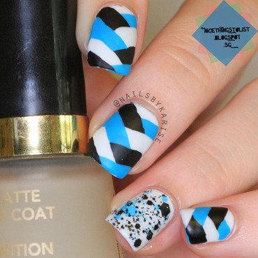 Matte Fistail nail art by Karise Tan