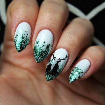 In to the Woods nail art by Jane