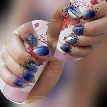 Tricolore  nail art by Ewa EvaNails