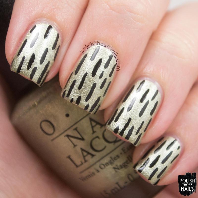 Comet Closer Lines nail art by Marisa  Cavanaugh