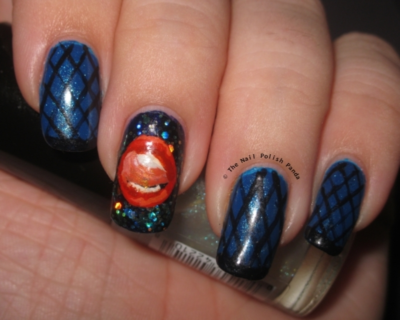 Seven Deadly Sins: Lust nail art by Lynni V.