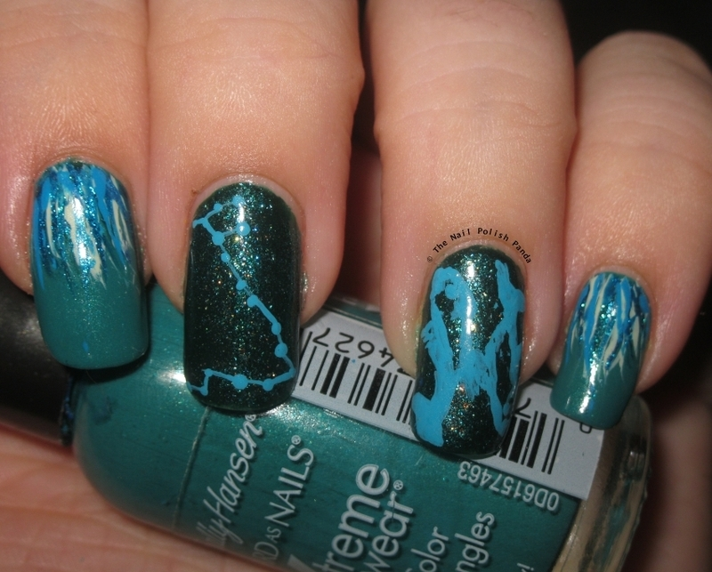 The Zodiacs: Pisces nail art by Lynni V.
