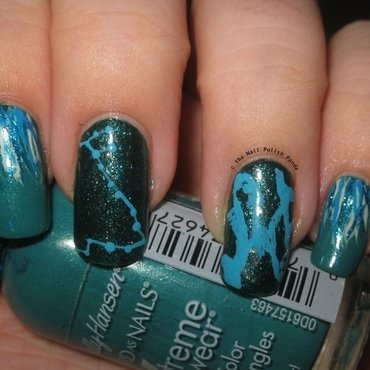 The Zodiacs: Pisces nail art by Lynni V.