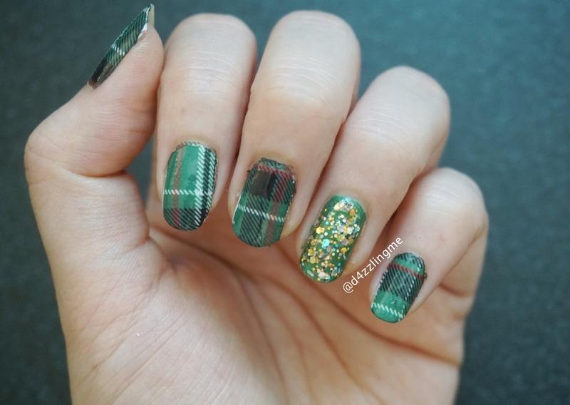 Tartan Nails  nail art by D4zzling Me