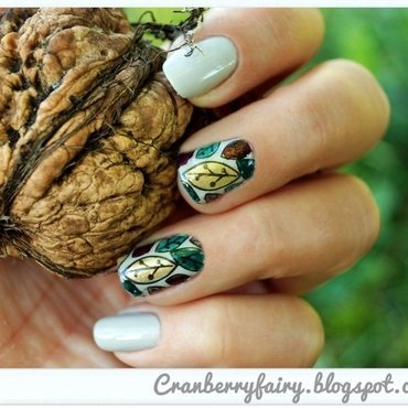 autumn time nail art by Cranberry Fairy