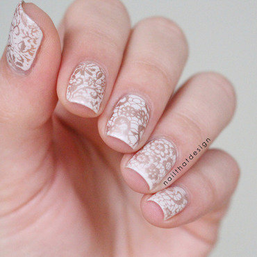 elegant stamping nail art by NailThatDesign