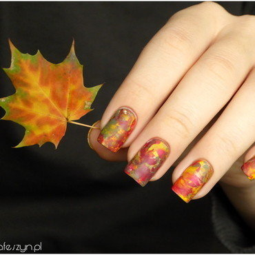 Almost like a leaf nail art by barbrafeszyn