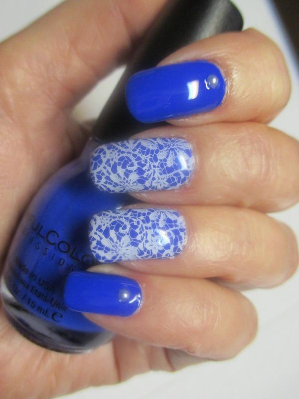Pearls and Lace nail art by NinaB