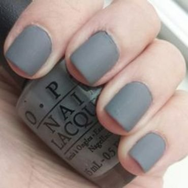 OPI Cement the Deal and Zoya Matte Velvet Topcoat Swatch by Alaina Afflerbaugh