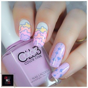 #Stamping Master In the clouds nail art by Love Nails Etc