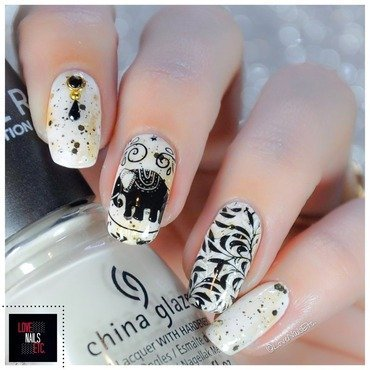 #TwinStamping Elephant nail art by Love Nails Etc