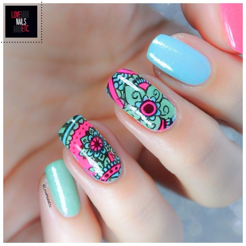 Mandala nail art by Love Nails Etc - Nailpolis: Museum of Nail Art