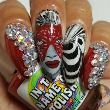 Watermarble Masquerade  nail art by Milly Palma