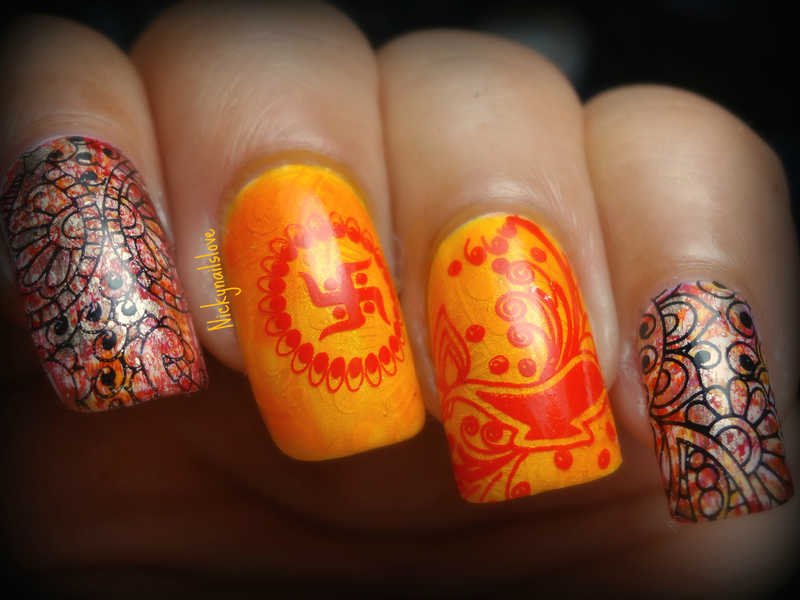 Happy Diwali nail art by Nicky