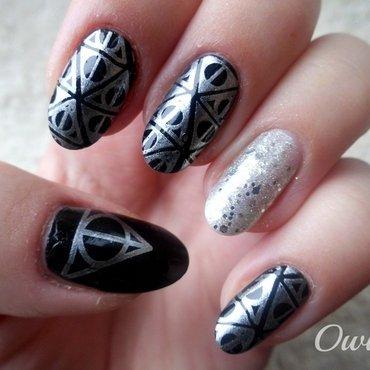 Potterhead nails. nail art by Owidia