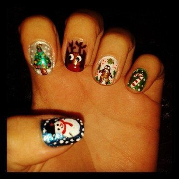 Merry Christmas nail art by Geiner  Arroyo
