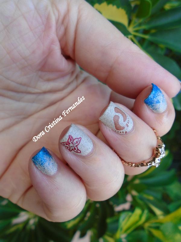 Beach Nails nail art by Dora Cristina Fernandes