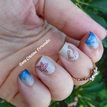Beach Nails nail art by Dora Cristina Fernandes
