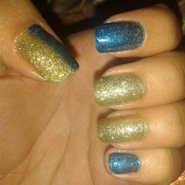 blue nail art by Andreea