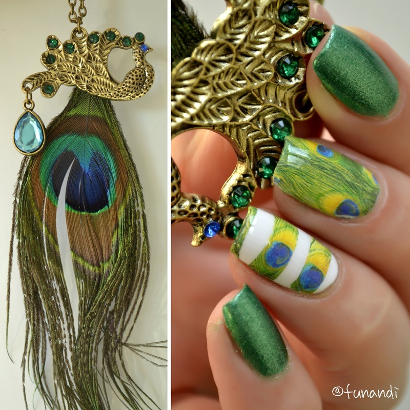 Inspiored by a necklace nail art by Andrea  Manases