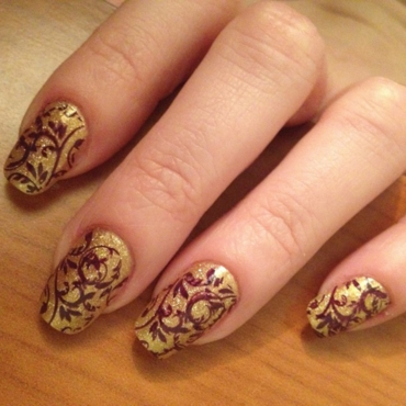 Tapestry nail art by Rox