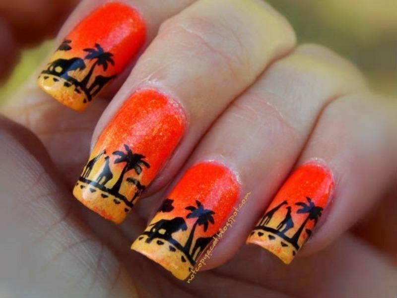 Africa nail art by notcopyacat