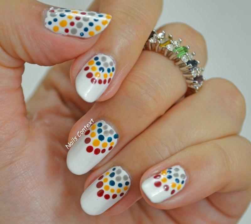 Chevron Dots  nail art by NailsContext
