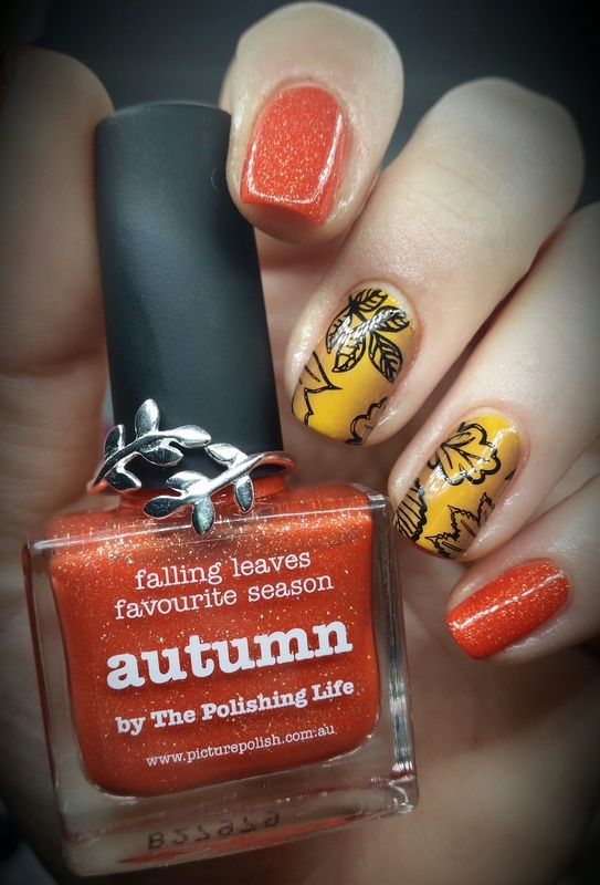 autumn leaves🍁🍂 nail art by redteufelchen86