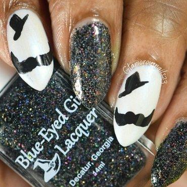 WNAC November 2015: Movember nail art by glamorousnails23