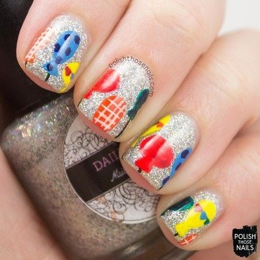 Birthday Balloons nail art by Marisa  Cavanaugh