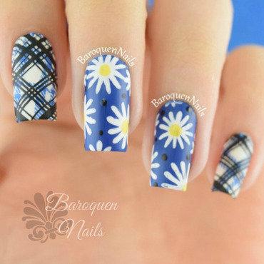 Blue Fields  nail art by BaroquenNails