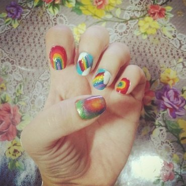 Arcoiris nail art by Geiner  Arroyo