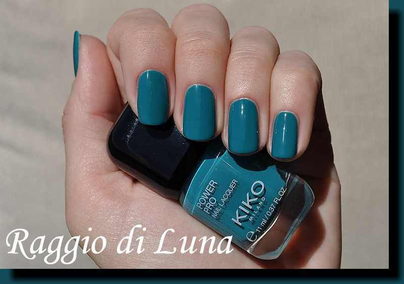 Kiko Power Pro Nail Lacquer n° 35 Teal Green Swatch by Tanja