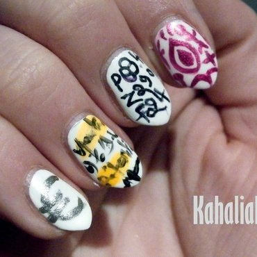 Nail art about... my job !  nail art by Kahaliah