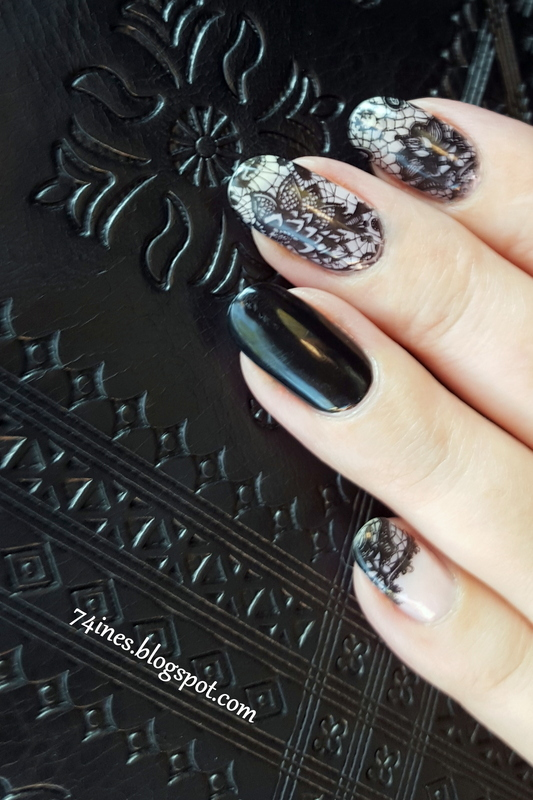 The swan song nail art by 74ines