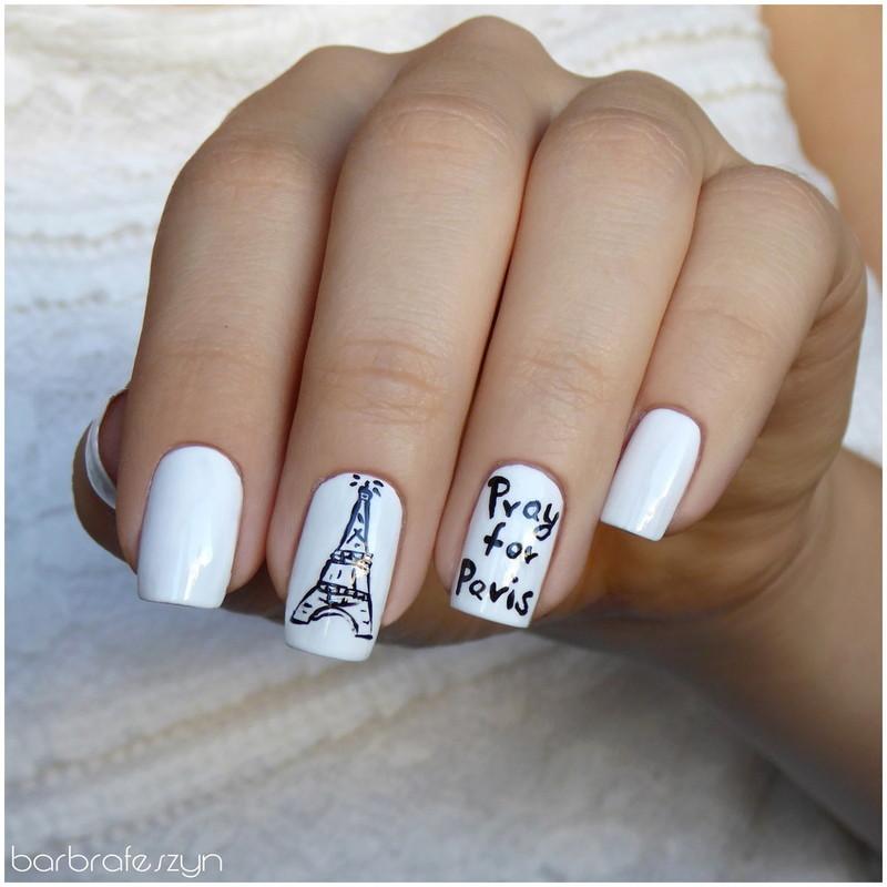 Pray for Paris nail art by barbrafeszyn