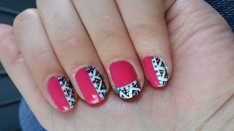 Aztec nails nail art by Maya Harran