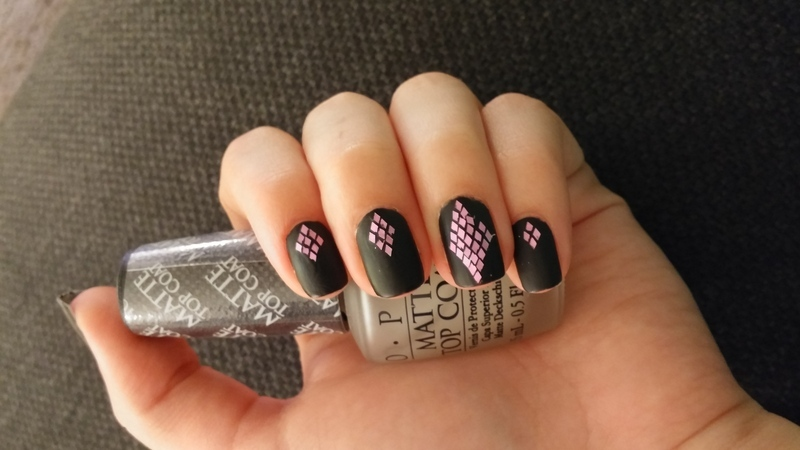 matte diamond nail art by Maya Harran