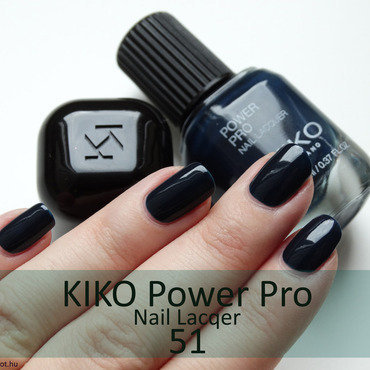 Kiko Power Pro Nail Lacquer 51 Swatch by Maria