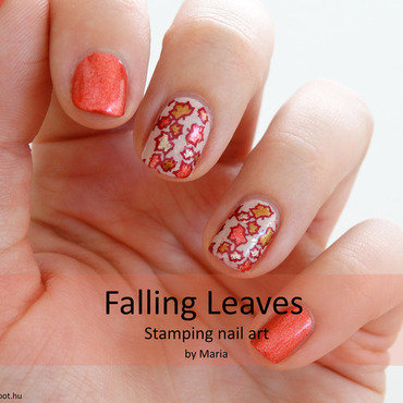 Falling Leaves nail art by Maria