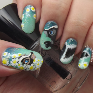 Flower Falls Inlove nail art by Ithfifi Williams