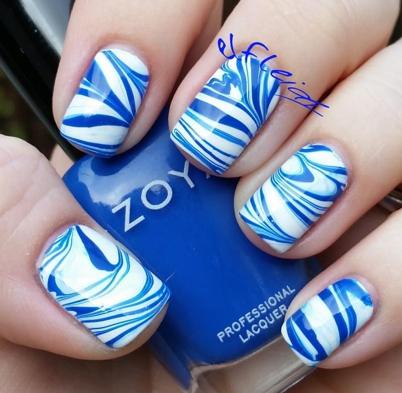 #watermarblepracticewed 11-04-2015 nail art by Jenette Maitland-Tomblin